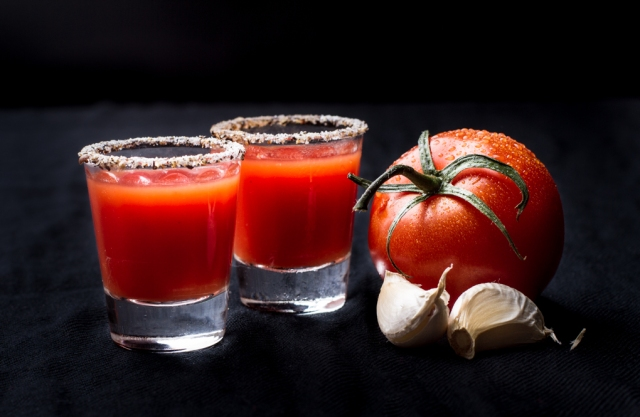 Gazpatcho Shooter - spicy, herbal and full of flavour.