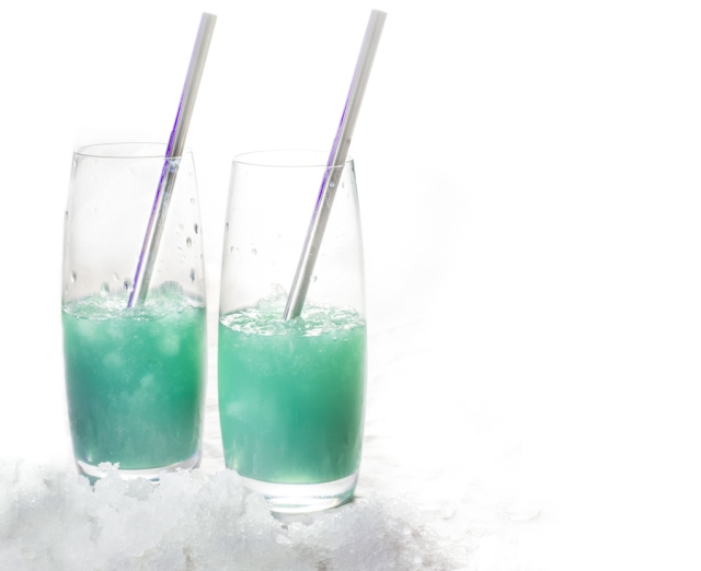 Glacier Melt: a new name for a wicked drink - served over crushed ice for a wonderful new virgin flavour.